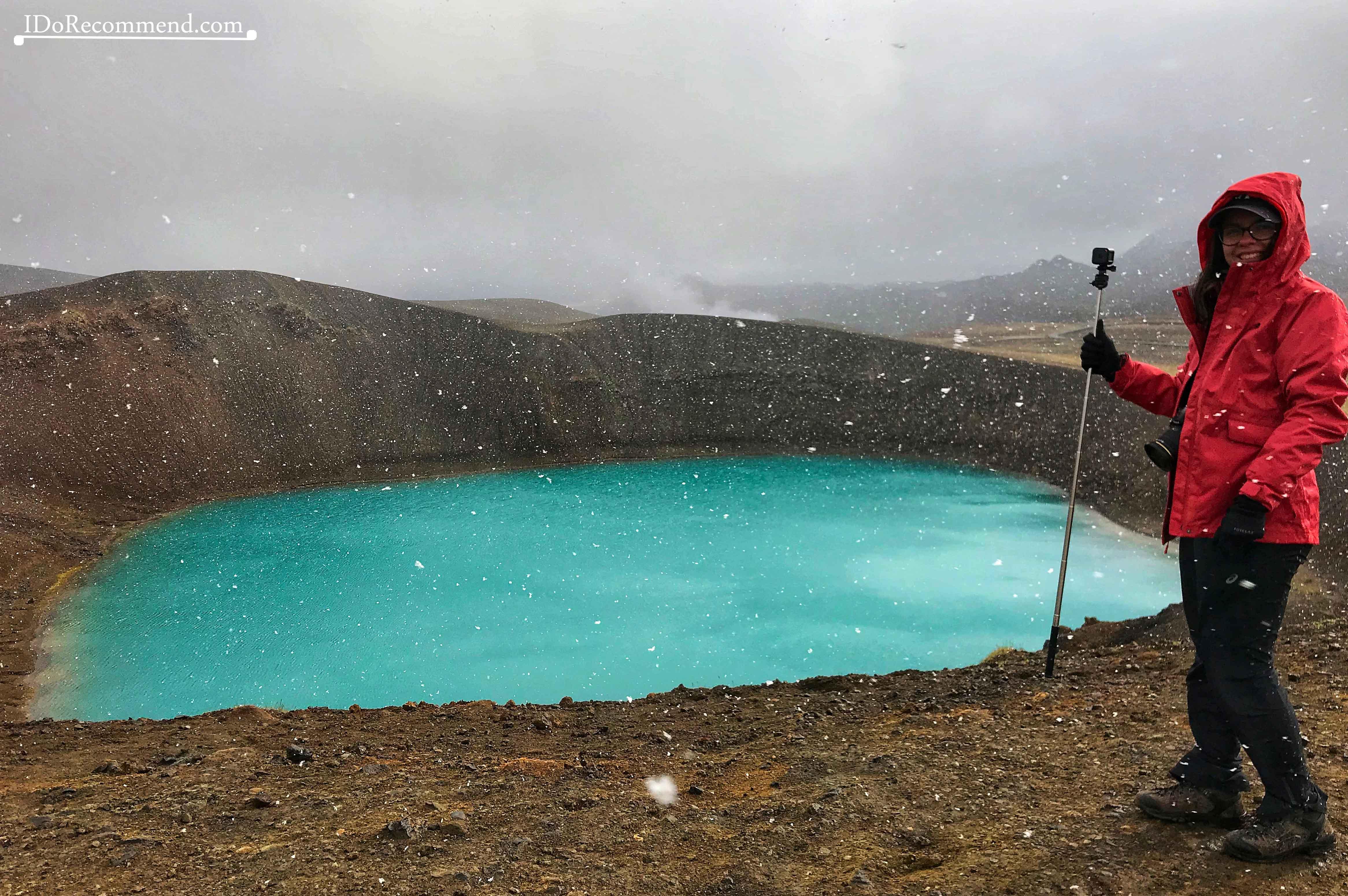 Viti Volcano - experiencing summer snow